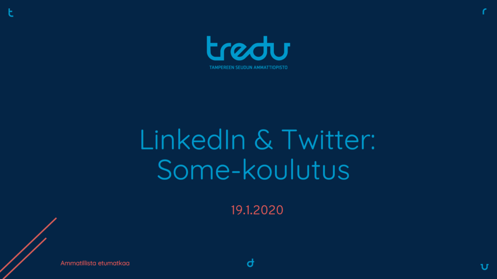 LinkedIn ja Twitter -somekoulutus