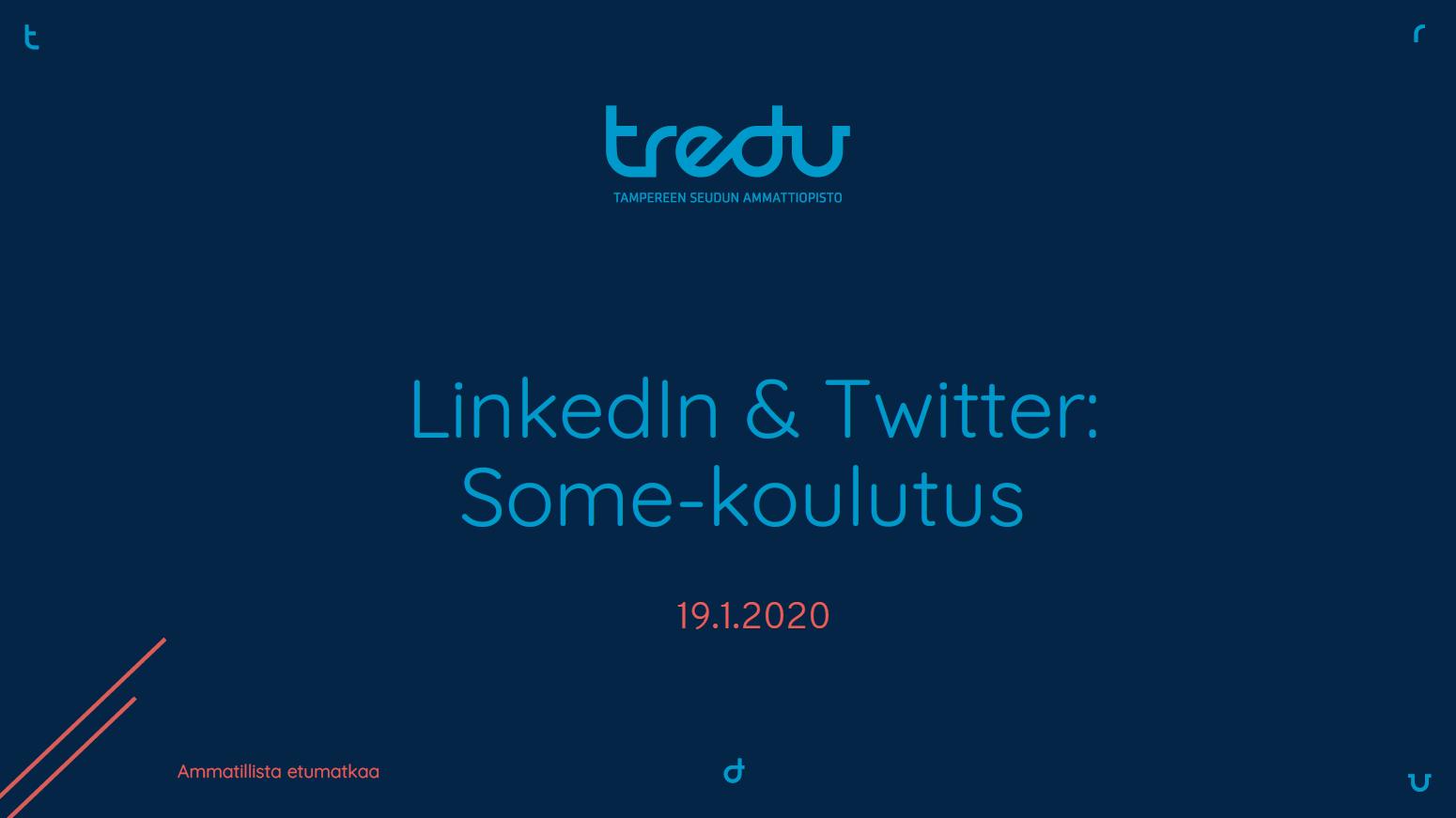 LinkedIn ja Twitter koulutus -kansikuva